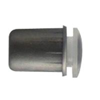 Отбойник (бампер) врезной d8x13.7мм, пласт. серый