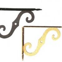 Кронштейн фигурный для полопок, золото 100х75мм,150х125мм,200х150мм,250х200мм