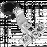 Минипетля вкладная для стекла 105* slide on хром
