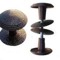 Ручка-кнопка РК1 тип 1 антик белое серебро, антик бронза, антик серебро, антик медь