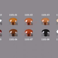 Ручка купол Sedef глянцевый белый,бук,вишня,махагон,ольха,орех,сосна,черный