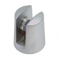 Полкодержатель для стекла D17,5*H7,2*L23 мм, мат.хром, хром