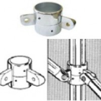 Крепёж двухсторонний поворотный с фиксатором для трубы D32мм,Z-060-32