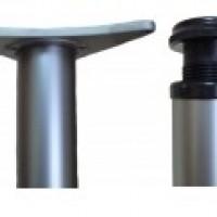 Опора D60х1100-1300мм (крепление усы), хром, мат.никель,мат.хром,золото
