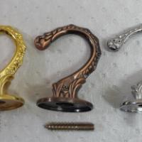 Крючок мебельный ввертный 2796, хром, медь, золото