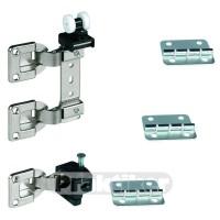 Комплект для 1 складывающейся двери 03-МКК-2 с двойной петлей
