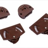 Ролики на дверь регулируемые SKM-15 коричневые (к-т)