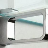 Держатель для стекл. полок алюм. N532 ( L-100 мм ) MAFOS   к-т 2шт.