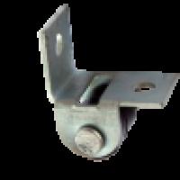 Ролик выкатной Г-образный d15mm, цинк