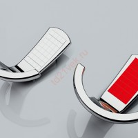 Крючок мебельный АВТ вставки(антрацит,хром,красный,черный,белый)