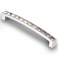 Ручка-скоба СRL-02 с кристаллами 96мм,128мм, хром, бронза