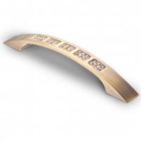 Ручка-скоба СRL-04 с кристаллами 96мм,128мм, хром, бронза