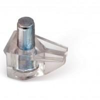 Полкодержатель для стекла и плит 5х21мм,прозрачный