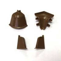 Фурнитура для плинтуса АР740 к-т заглушек,угол внутренний, угол внешний,соединитель