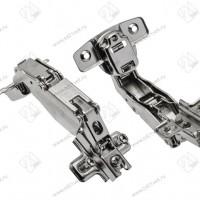 Петля угловая 165 накладная GTV без евро, с отв. пл., 45/35 мм, Н2 сталь