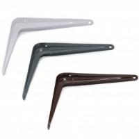 Консоль с одним ребром жесткости,75x100x0,7мм, белый, коричневый, металлик, черный