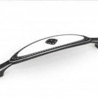 Ручка-скоба Валмакс FS-138 128мм,со вставкой старое олово/белый