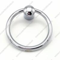 S400-02 Rнопка-кольцо хром,ат.черный,мат.золото