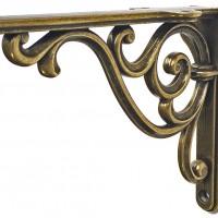 Менсолодержатель в стиле ретро 150 мм француская бронза, старое серебро глянец