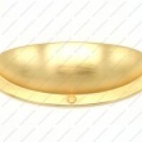 Ручка К4509-64мм шампань, мат.черный, мат.золото