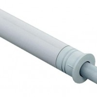 Амортизатор для двери врезной D10mm серый
