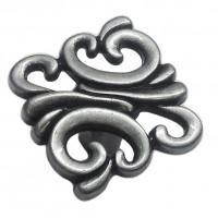 Ручка-кнопка Giusti WP0707, старое темное серебро